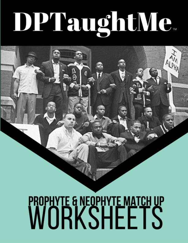 Prophyte and Neophyte Match Up Worksheet