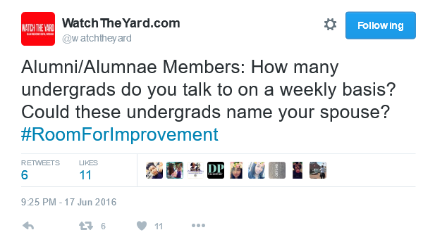 DPTaughtMe Highlights Best Tweets from Watch The Yard about Greek Fraternity and Sorority Life, Leadership, Mentorship and Influence
