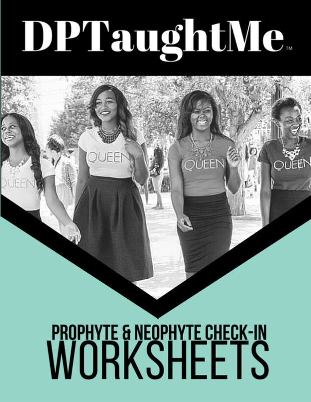 DPTaughtMe Greek Life Mentor and Leadership Checkin Worksheet for Greek Life, Sorority and Fraternity Mentoship Matching at the Beginning of the College Semester (NPHC, Divine Nine and Multicultural Greek Life Organizations)